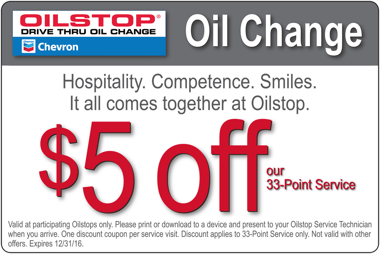 Oil change coupons 2018 near me